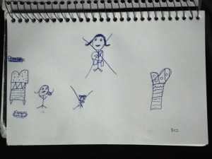 Ink stick figures (and more) by my 6 year old niece