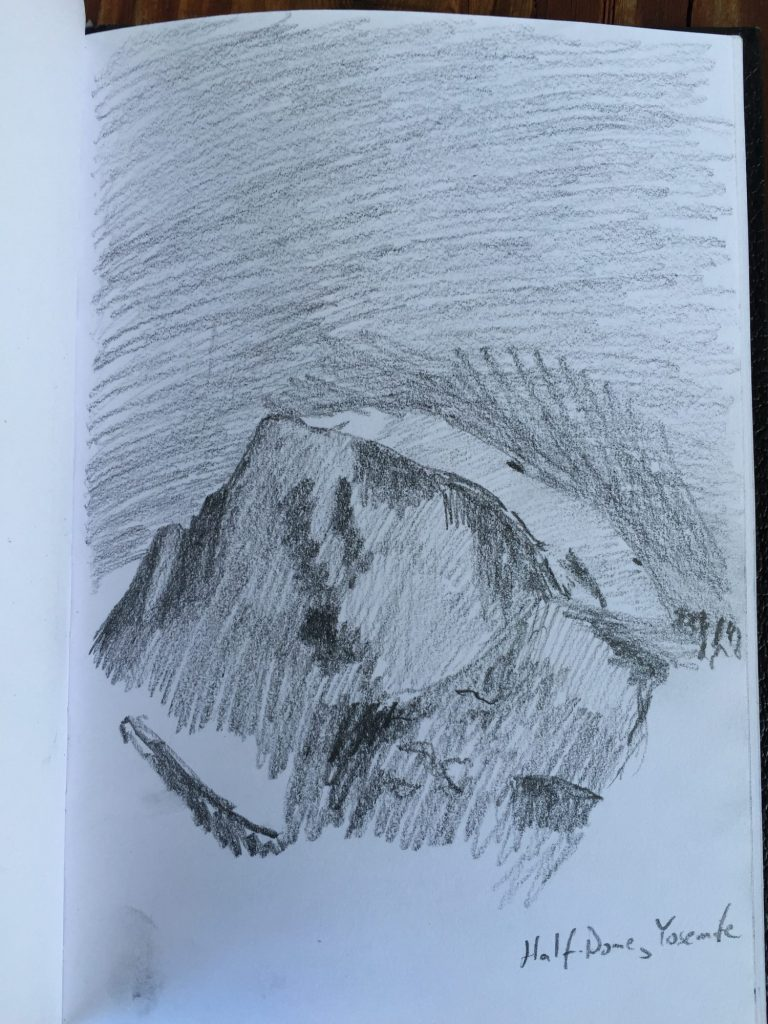 Graphite Half Dome sketch