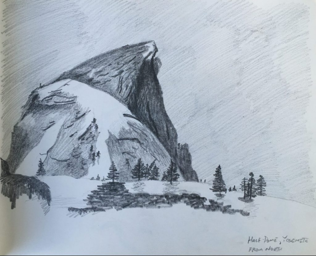 Graphite Sketch of Half Dome