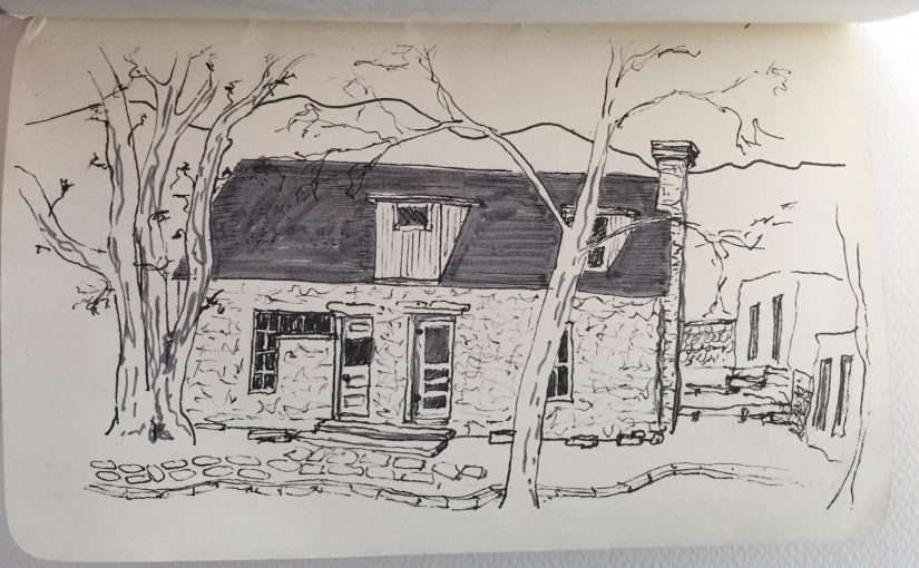Sketching and Hiking in the Guadalupe Mountains