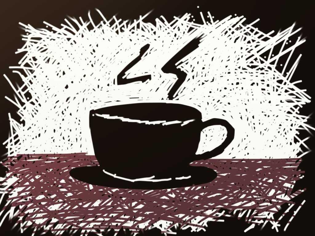 sketchy coffee mug