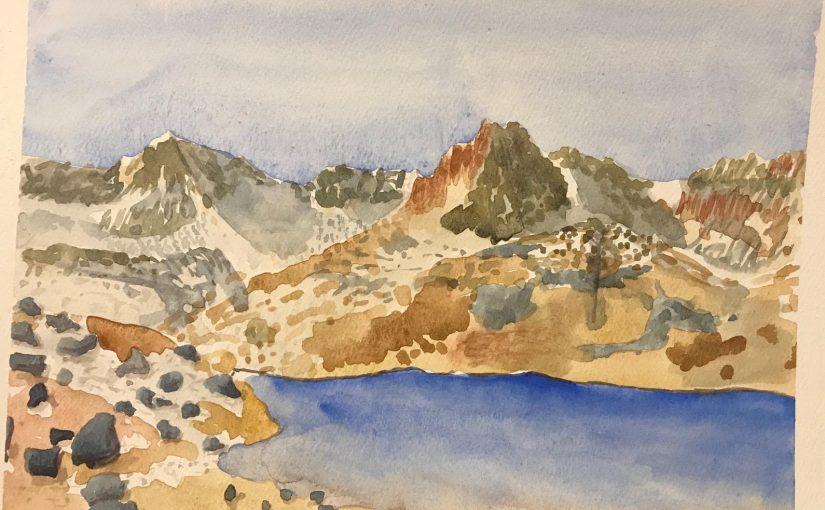 Hiking To and Sketching At Ice Lake