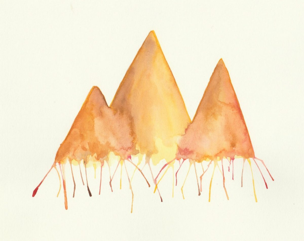 Melting Watercolor Mountains