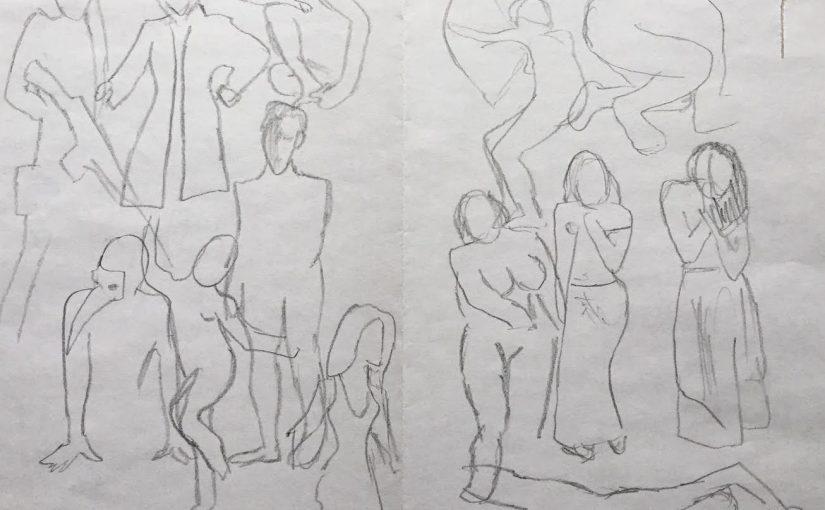 Speed gesture drawing